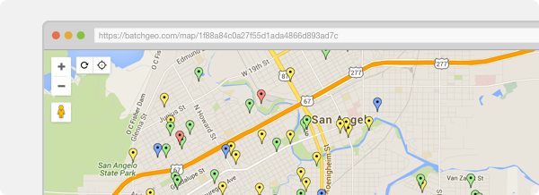 BatchGeo: Create maps from your data on florida street maps, neighborhood street maps, san francisco street maps, local street maps, washington street maps, orlando street maps, zip code street maps, austin street maps, oakland street maps, texas street maps, home street maps, international street maps, area street maps, city street maps, world street maps, oxford street maps, miami street maps, hudson street maps,